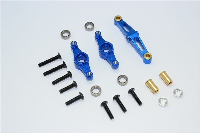 ALLOY STEERING ASSEMBLY WITH BEARING  - 1SET blue