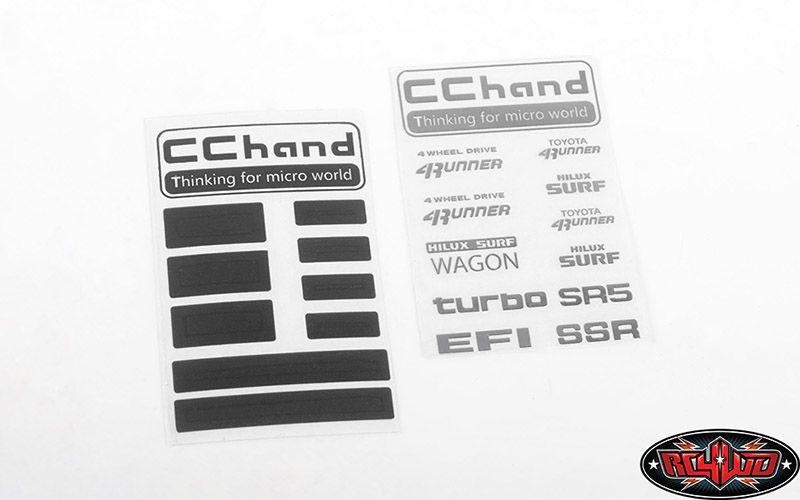 Metal Logo Decal Sheet for 1985 Toyota 4Runner