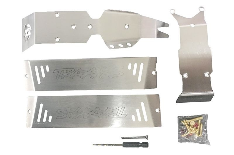 STAINLESS STEEL SKID PLATES ft, CENTER, rr CHASSIS -24PCS