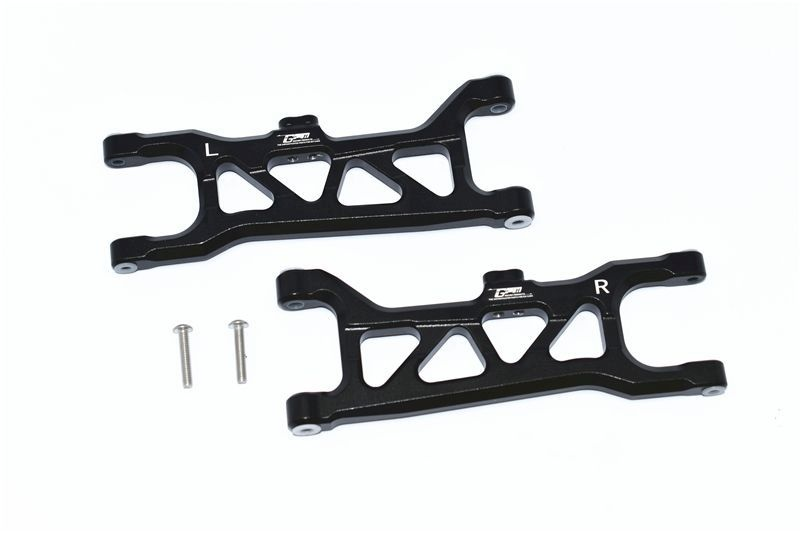 ALUMINUM FRONT LOWER ARMS -4PC SET black