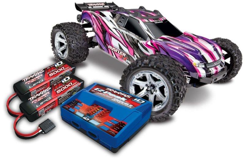 TRAXXAS Rustler 4x4 VXL pink RTR mit Akku/Lader-SET *AKTION*