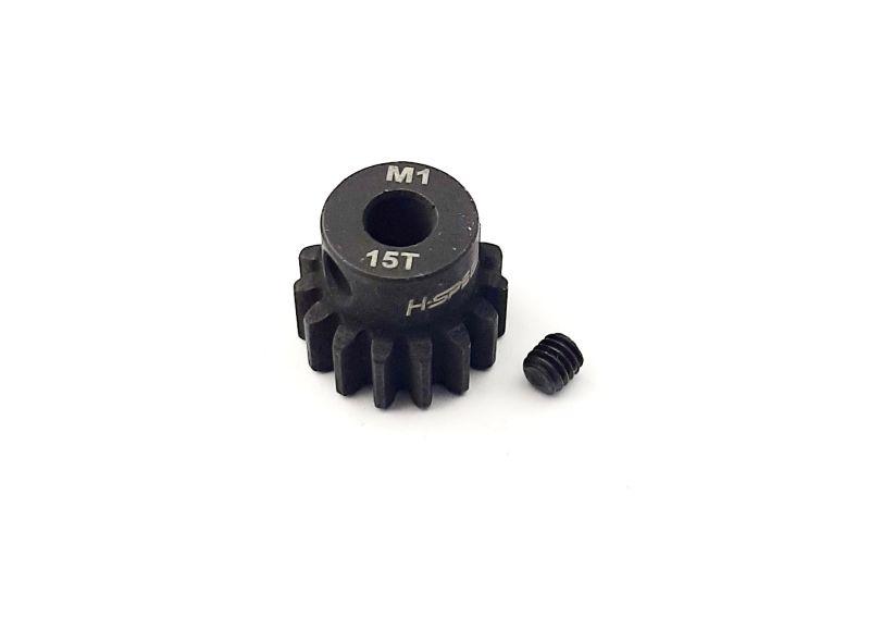 Ritzel 15 Zähne Modul 1, 5mm Stahl