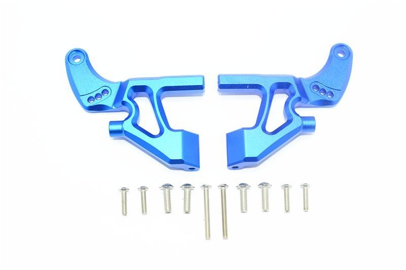 ALUMINUM REAR WING ARMS -12PC SET blue