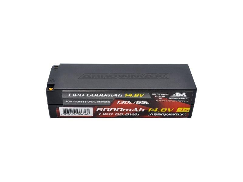AM Lipo 6000mAh 4S - 14.8V 65C Continuous 130C  5mm Bullets