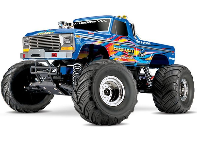 TRAXXAS BIGFOOT No1 BLUEX  RTR +12V-Lader+Akku