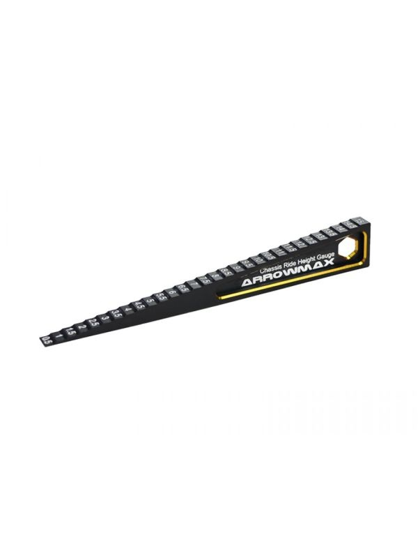Ultra Fine Chassis Ride Height Gauge 0.5-15MM Black Golden
