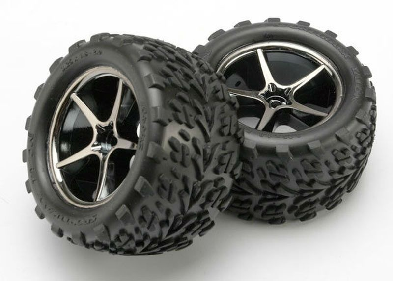 Reifen auf Felgen montiert