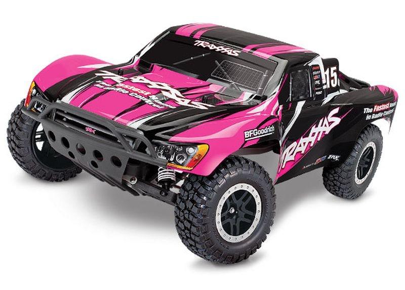 TRAXXAS Slash pinkX RTR +12V-Lader+Akku