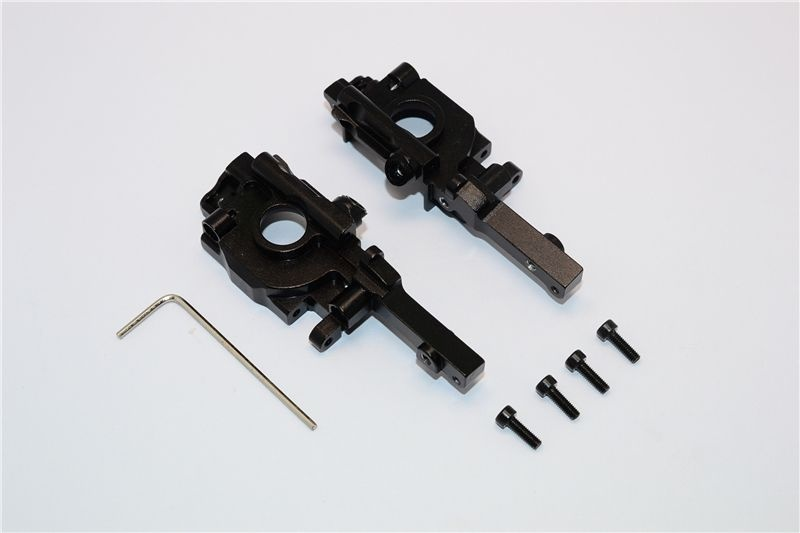 ALLOY REAR GEAR BOX - 2PCS SET black