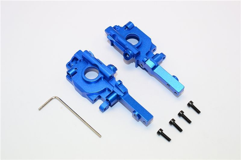 ALLOY REAR GEAR BOX - 2PCS SET blue