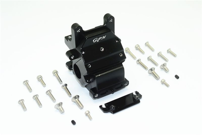 ALUMINUM FRONT/REAR GEAR BOX -25 PC SET black
