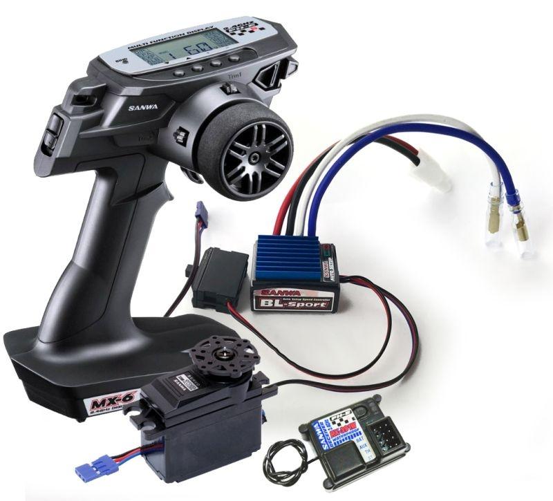 MX-6 Combo TX/RX-391W + BL-Sport-Regler & SRM-102Z Servo