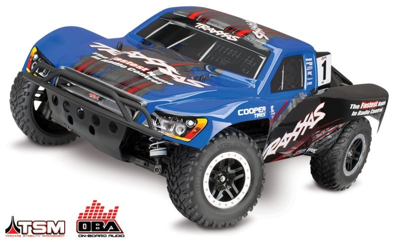 TRAXXAS Slash 4x4 blau BRUSHLESS +OBA
