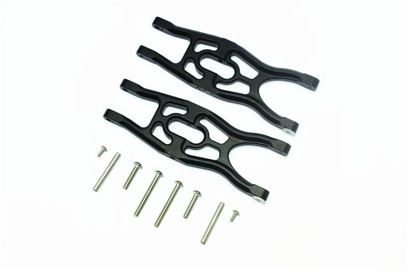 ALUMINUM FRONT/REAR LOWER SUSPENSION ARMS -10PC SET black
