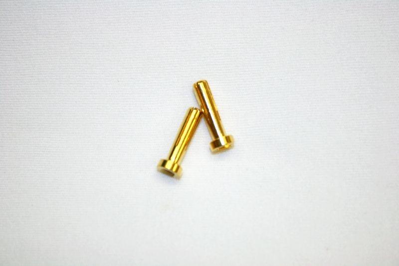 4mm Goldkontaktstecker 18mm lp (2Stk)