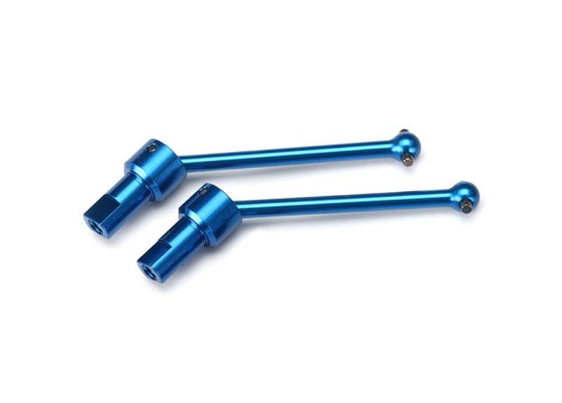Alu-Antriebswellen blau v/h (2) 6061-T6