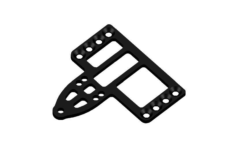 JR128-R01 Carbon Tridamper Motor Plate PRO-