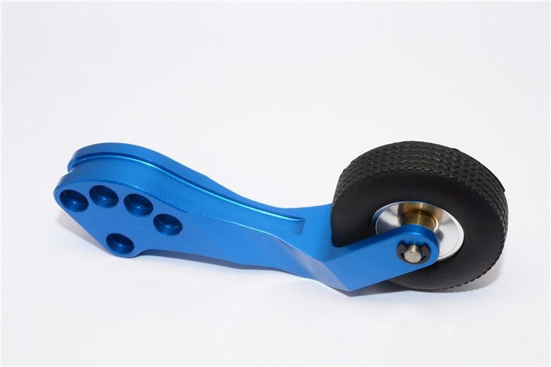 ALLOY REAR WHEELIE BAR - 1SET blue
