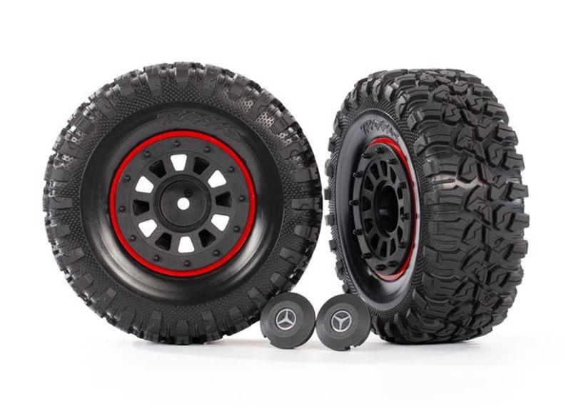 Reifen auf Felgen 2,2 schwarz/rot  (2)benötigt #8255A