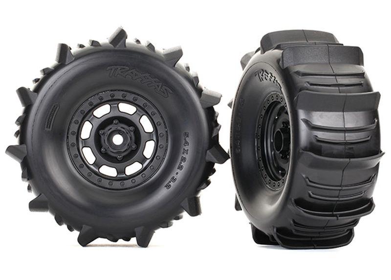 Reifen auf Felge montiert Paddle Reifen (2)