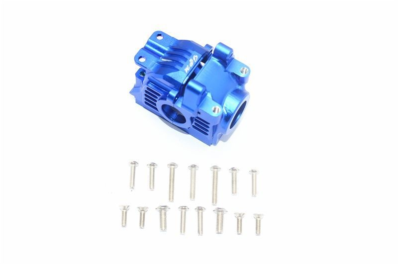ALUMINUM REAR GEAR BOX -17PC SET blue