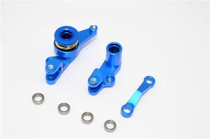 ALLOY STEERING ASSEMBLY WITH BEARINGS - 1SET blue