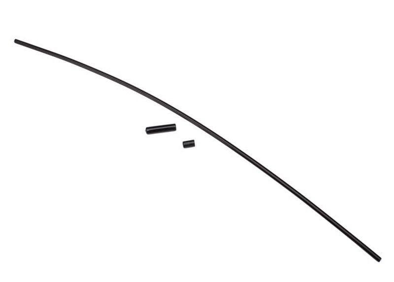 Antennen-Rohr schwarz + Zubehör
