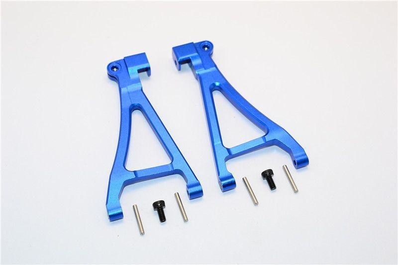ALUMINIUM FRONT LOWER ARM - 1PR SET blue