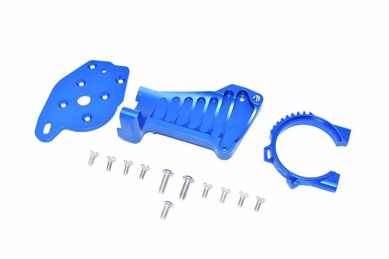 ALUMINUM MOTOR MOUNT -14PC SET blue