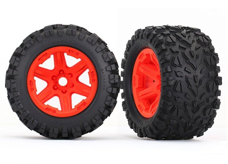 Reifen auf Felge orange montiert (Talon EXT 3.8)