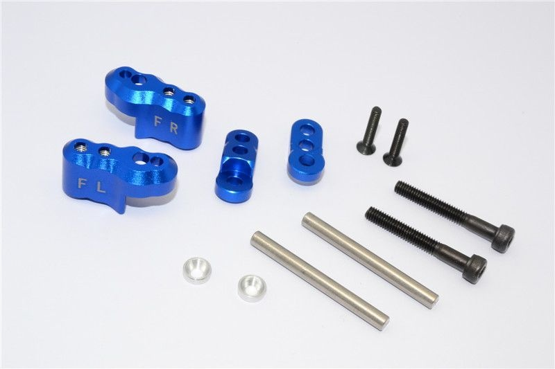 ALUMINIUM FRONT ADJUSTABLE SHOCK MOUNT - 1SET blue