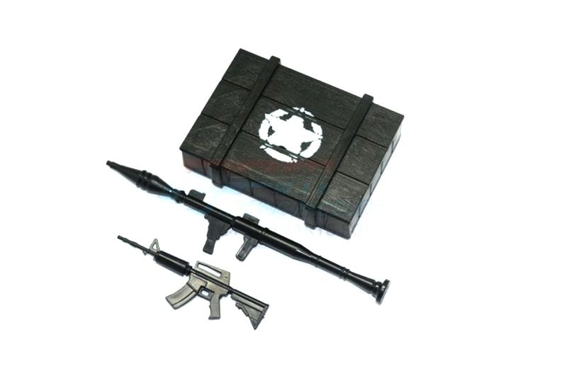SCALE ACCESSORIES: WEAPON BOX+WEAPON FOR CRAWLERS (A) -3PCS