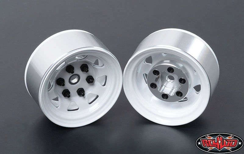 Stamped Steel Single 1.55 Stock White Beadlock Wheel