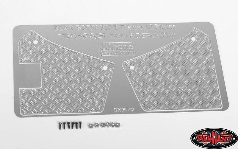 Diamond Plate Rear Fender Quarters for Traxxas TRX-4