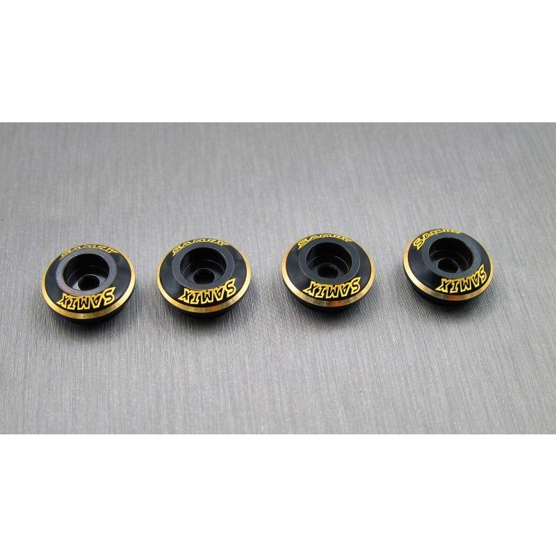 SAMIX CFX or CFX-W brass shock spring under cap 4pcs