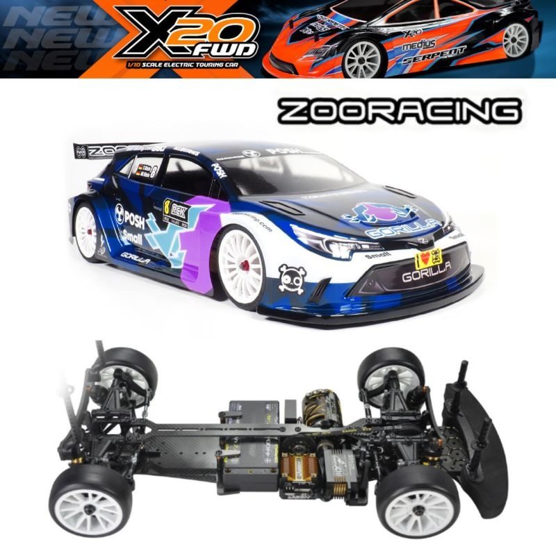 Serpent X20FWD Carbon 1/10 EP incl. ZooRacing Gorilla