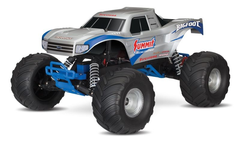 SLVR TRAXXAS BIGFOOT RTR +12V-Lader silber