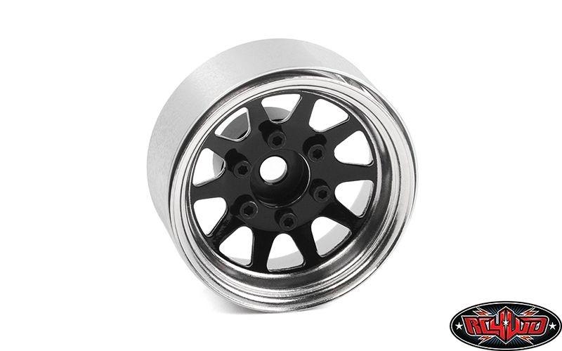 OEM 6-Lug Stamped Steel 1.55 Beadlock Wheels (Black&Chrome)