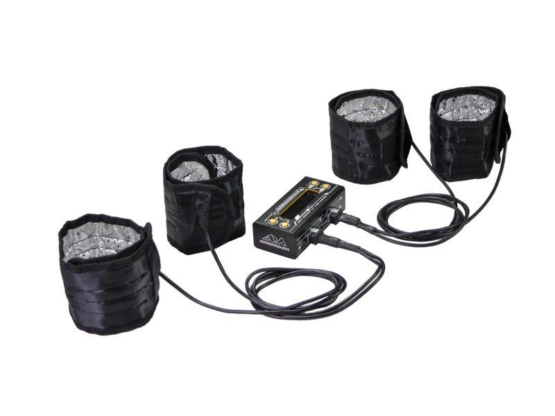 AM Tyre Warmer (1/8th) & Batt Warmer With Bag Black Golden