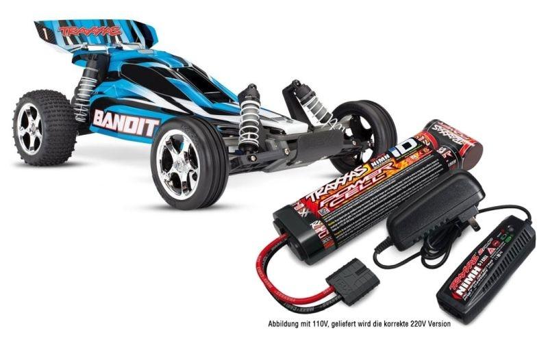 TRAXXAS Bandit blau Buggy RTR mit Akku/Lader-SET *AKTION*
