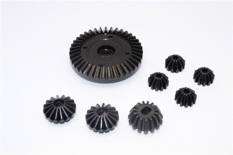 STEEL RING GEAR & BEVEL GEAR - 8PCS SET  (FOR TT02 / TT02B)