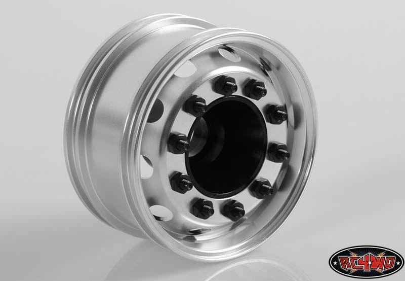 General Semi Truck Wide Front Wheels Silver Cap (2)