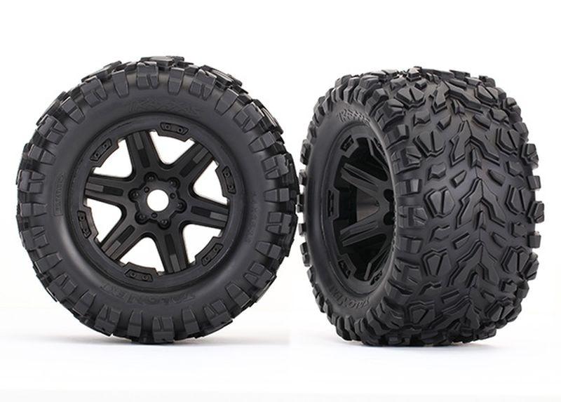 Reifen auf Felge schwarz montiert (Talon EXT 3.8)