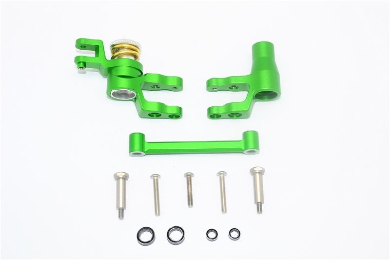 ALUMINUM STEERING ASSEMBLY -12PC SET green