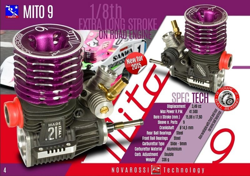 NOVAROSSI MITO-9 OnRoad 3.5cc (Virtus-Basis) TUNED