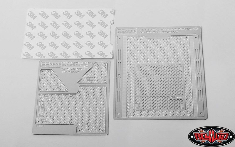 Diamond Plate Rear Bed for Axial 1/10 SCX10 II UMG10 4WD Roc