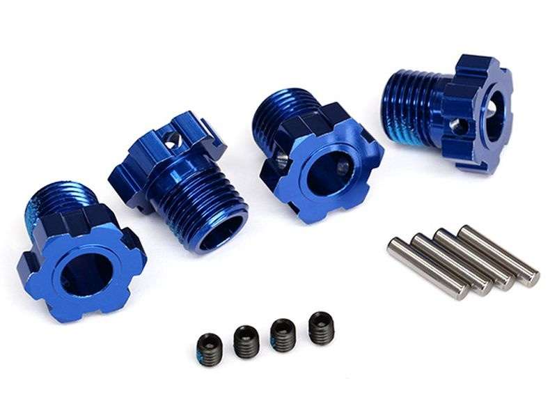 Radmitnehmer splined 17mm blau eloxiert