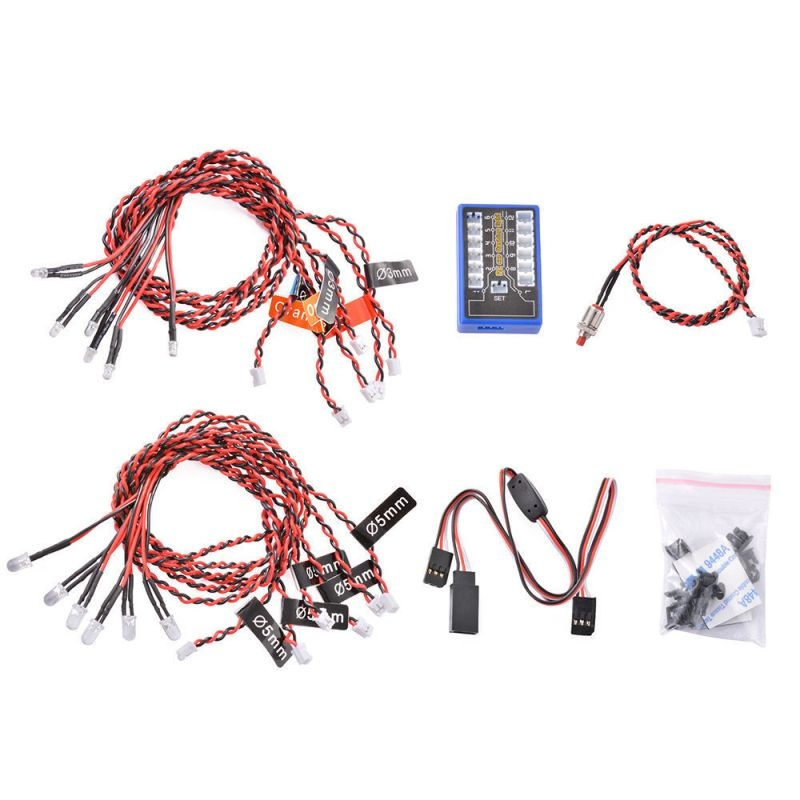 LED-Kit 12x 4,8-6,0 Volt mit Kontrollbox Multicolor Flashing