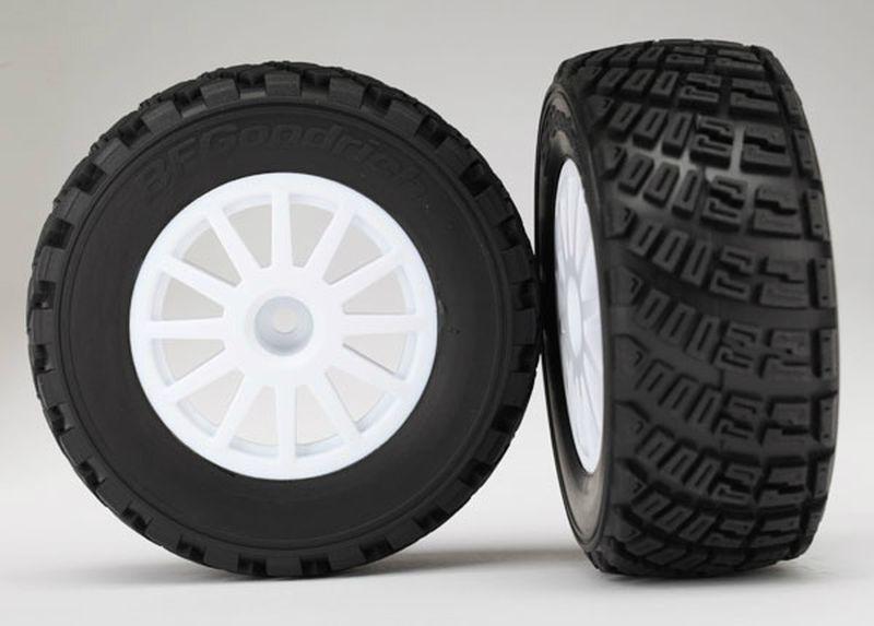 Reifen auf Felge weiß, soft