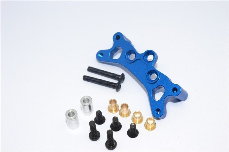 ALLOY FRONT DAMPER PLATE - 1PC blue
